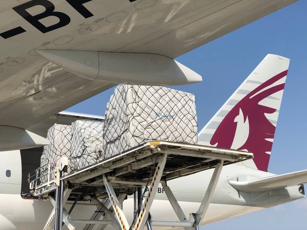 Bolloré Logistics, Groupe ADP, Qatar Airway Cargo