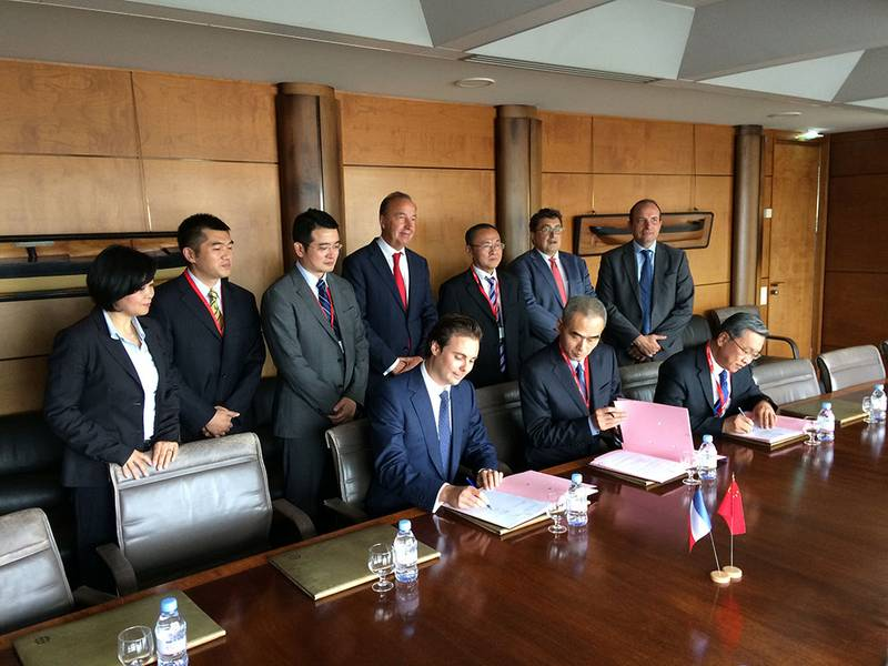 Signature du protocole d'accord Cosco shipping Logistics et Bolloré Transport & Logistics